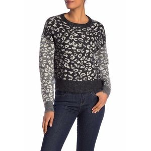 ALLSAINTS Leya Crew Neck Print Sweater Size M
